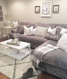 5 Relaxing Tips AND Tricks: Livingroom Remodel Grey Walls farmhouse living room remodel farm house.Livingroom Remodel Grey Walls living room remodel before and after pictures.Living Room Remodel With Fireplace Tvs. Elegant Living Room, Cozy Living Rooms, Home And Living, Gray Couch Living Room, Living Area, Living Room Goals, Condo Living Room, Living Room Set, Living Walls