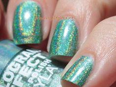 Layla Hologram Effect in Emerald Divine