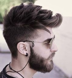 """New """"boy hairstyles images"""" Trending Boy Amazing hairstyle pic collection 2019 Mens Hairstyles With Beard, Hair And Beard Styles, Hairstyles Haircuts, Haircuts For Men, Short Hair Styles, Hair Style For Men, Hairstyles For Boys, Beard Haircut, Fade Haircut"""