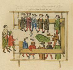 Das Volkacher Salbuch - Eine illustrierte Rechtsordnung - Vor Gericht [folio 395v] Das Verhor