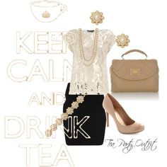 Tea Party Outfit, created by fahrab on Polyvore