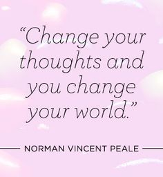 #Inspiration | Change your thoughts