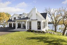 Gorgeous farmhouse style on Lake Minnetonka with nautical accents house plans Lake House Plans, House Floor Plans, Cottage Style House Plans, Cottage Style Homes, Farmhouse Plans, Farmhouse Design, Farmhouse Style Homes, Industrial Farmhouse, Modern Farmhouse