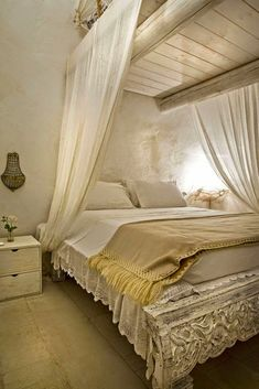 Find out all photos and details of TRULLI LA CAVALLERIZZA., Italy on Archilovers. Browse the complete collection of pictures and design drawings Linen Bedroom, Cozy Bedroom, Dream Bedroom, Master Bedroom, Bedroom Decor, Boudoir, Romantic Room, Beautiful Bedrooms, My Dream Home