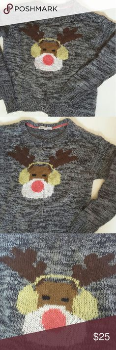 Jolt from buckle Christmas sweater Rodolfo the red noes reindeer kind of oversized 22 inches from armpit to armpit 22.5 inches from shoulder to bottom of sweater Buckle Sweaters