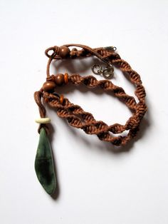 Ethnic necklace for men with Jade wooden beads by Ilovetelaviv, $15.50    I think my man would love this!