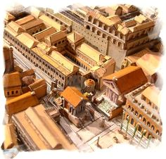 foro Roman Architecture, Historical Architecture, Ancient Architecture, Ancient Rome, Ancient History, Rome City, Rome Streets, Pompeii And Herculaneum, Fantasy City