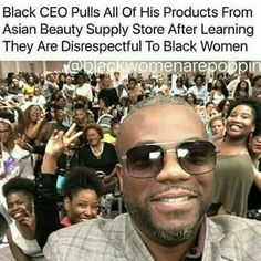 Why are you still spending your money with people that don't respect you your liquid gold to them stop being your worst enemy. I do not give my money to no one that disrespect me following you around the store  please spend with your own like they do. Stop being blind to the facts. Not one penny on their food or supply stores.#Wake Up