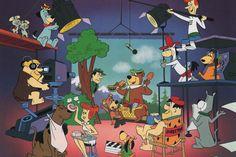QUIET ON THE SET PRINT Hanna Barbera Yogi Scooby Fred  | eBay