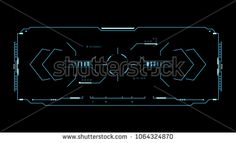 Futuristic HUD. Concept user interface high tech screen video game. Template for phone interface virtual reality. Vector Illustration.