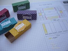 Anleitung Matchbox Ferrero Küsschen Box (Streichholzschächtelchen) | Beads & Stamps