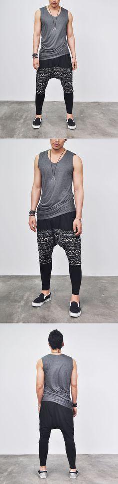Tops :: Reversible Silket Shirring Tanktop-Tank 16 - Mens Fashion Clothing For An Attractive Guy Look