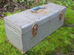 Vintage Metal Toolbox/ Tool Box / Silver / Pale by akaATA on Etsy