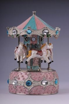 FABERGE CAROUSEL Horses whith Music box  Jewelry by shopgalilee, $131.00