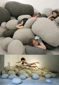 Soft stones pillow rocks floor seats. need these