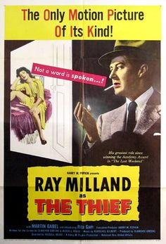 THE THIEF (1952) - Ray Milland - Martin Gabel - Rita Gam - United Artists - Movie Poster.