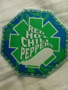 2 RHCP Red Hot Chili Peppers BACKSTAGE VIP Passes From 1990s authentic Unused    eBay #music