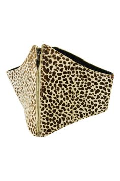 1980s Ozbek Leopard Pony Corset Belt  I wouldn't mind...