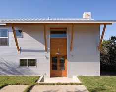 Pedernales Ranch House, Contemporary Entry, Austin