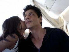 and...more kisses. good to be a dad...hope kkr does well today. kids will be thrilled.