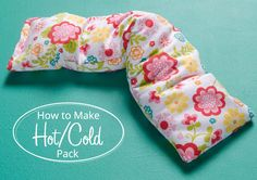 How to Make a Hot/Cold Pack via Sew Geeky, the FabricGeek Blog