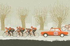Merckx's chain gang. Illustration by Simon Scarsbrook www.cyclingweekly.co.uk