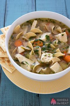 Slow Cooker Chicken Noodle Soup is a super simple and scrumptious comfort food recipe that's so much better than any canned version!