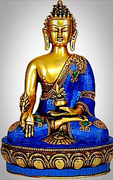Unusual Blue Buddha To Enhance Peace And Tranquility. Good For The Home, Especially The Bedroom, And Beneficial For Removing All Conflict And Hostility And Restoring Balance When Injustice Has Been Dealt~♥•✿ •♥•✿