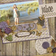 Tahoe Reflection layout using A Grand Life {Dressed Up} Template by Fiddle Dee Dee Designs http://the-lilypad.com/store/A-Grand-Life-Dressed-Up-Digital-Scrapbook-Template.html Morning on the Lake kit by Etc by Danyale http://the-lilypad.com/store/Morning-on-The-Lake-Kit.html