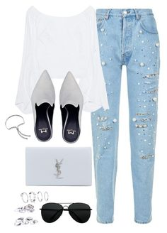 """Untitled #3480"" by theaverageauburn on Polyvore featuring Forte Couture, Petersyn, Yves Saint Laurent, H&M and Monica Vinader"