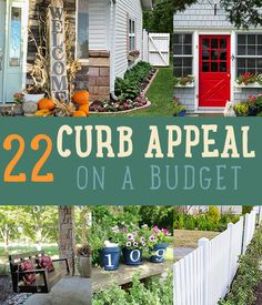 22 Curb Appeal Ideas on a Budget by DIY Ready at  http://diyready.com/diy-ideas-home-improvement-on-a-budget/