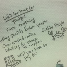 Life is short, stay awake for it - Caribou coffee :D