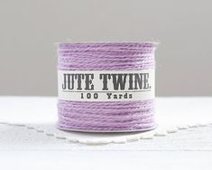 Jute Twine  Lavender Purple 100 Yard Spool by smilemercantile
