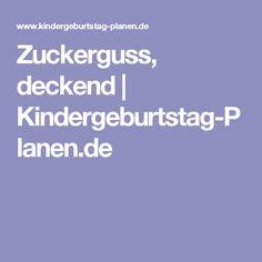 Zuckerguss, deckend | Kindergeburtstag-Planen.de