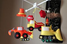 Baby Crib Mobile Baby Mobile Construction by dropsofcolorshop