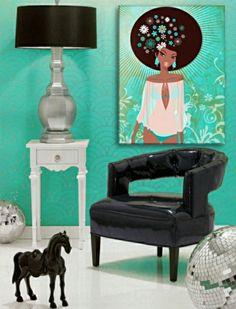 Wohntrends 2013 - trendige Wandfarbe und Wohndeko in türkis und grün    Minimalisti.com