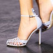 Shoespie Light Purple Cutout Caged Toe Dress Sandals