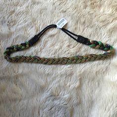 Urban Outfitters Headband New with tags and never before worn. Fun headband with colorful yarn detailing on the inside and beaded detailing on the outside.  Urban Outfitters Accessories Hair Accessories