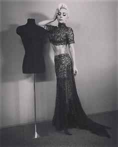 Two-piece Alaia dress, worn for Victoria Secret Fashion Show 2016