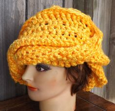 beanie hat in yellow $30.00 #Etsy