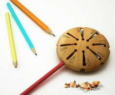 Lollypop Pencil Sharpener – Wooden Multi-Size Pencil Sharpener