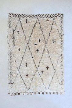 Custom Beni Ourain 250 - the gardener's house Hand Knotted Rugs, Hand Weaving, Beni Rugs, Natural Fiber Rugs, Moroccan Berber Rug, Wool Carpet, Custom Rugs, Beni Ourain, Pink Rug