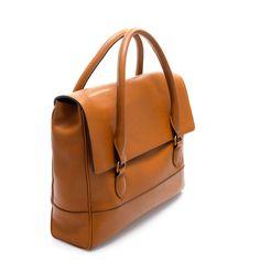 zara leather briefcase
