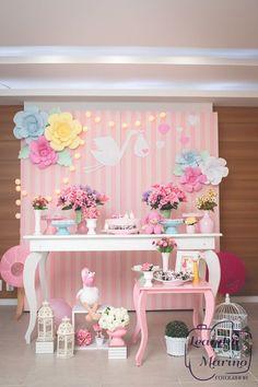 Jay d event stylist by arncamugao design – Artofit Shower Bebe, Girl Shower, Baby Birthday, Birthday Parties, Tea Parties, Pastel Party, Baby Shower Princess, Baby Nursery Decor, Baby Shower Cakes