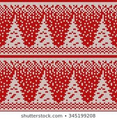Lignende bilder, arkivbilder og vektorer av Winter Holiday Pattern on the Wool Knitted Texture. Christmas Tree And Dogs, Christmas Stockings, Christmas Sweaters, Knitting Charts, Knitting Stitches, Knitting Patterns, Fair Isle Chart, Seamless Background, Winter Holidays