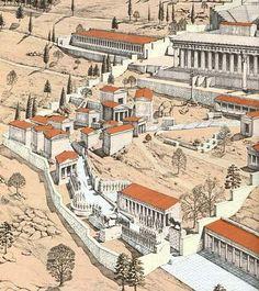 Illustration of Ancient Delphi