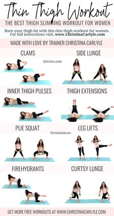 Thin Thigh Workout | The best fat burning & slimming Thigh Exercises