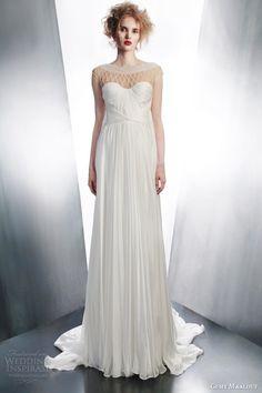 Gemy Maalouf wedding dress 2015 draped gown embellished neckline 4194