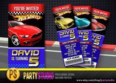 Hot Wheels Birthday Ticket Invite (Customizable Printable Invitations) Pick your favorite HotWheel car!