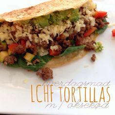 hverdagsmad på 30 min. | LCHF tortillas med oksekød - lidt om alt - og meget om mad